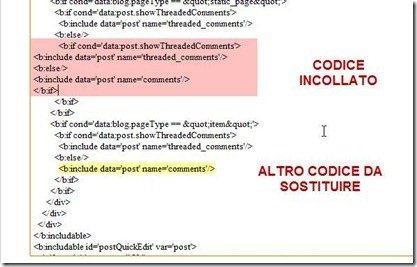sostituire-codice
