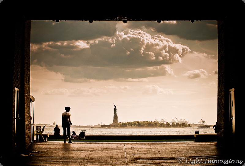 Light Impressions-Framed Lady liberty