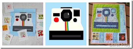 Polaroid Camera Paper Pieced Pattern