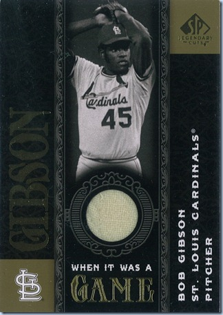 2007 SP Legendary Cuts Gibson Jersey