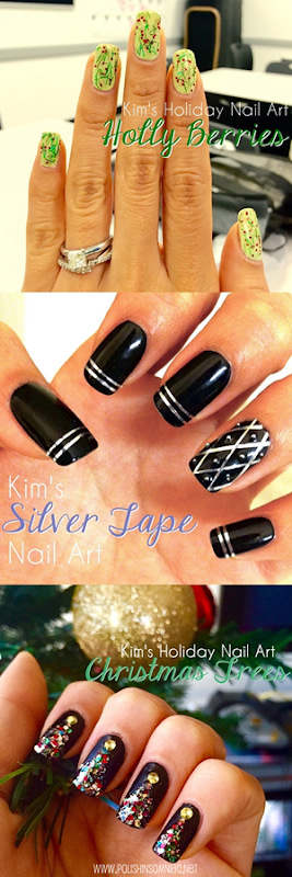 3 Holiday Nail Art Looks by Kim for polish insomniac