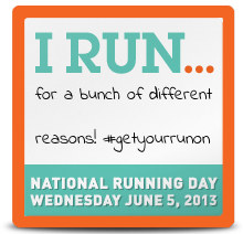 National Running Day - June 5, 2013