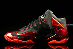 nike lebron 11 gr black red 1 03 New Photos // Nike LeBron XI Miami Heat (616175 001)