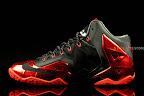 nike lebron 11 gr black red 1 03 New Photos // Nike LeBron XI Miami Heat (616175 001)