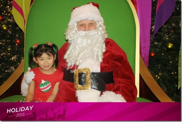 Hannah and Santa  Dec 2, 2013  4.5yo - New