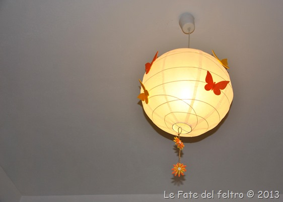 Le fate del feltro i miei lampadari ikea - Lampadari ikea camera ...
