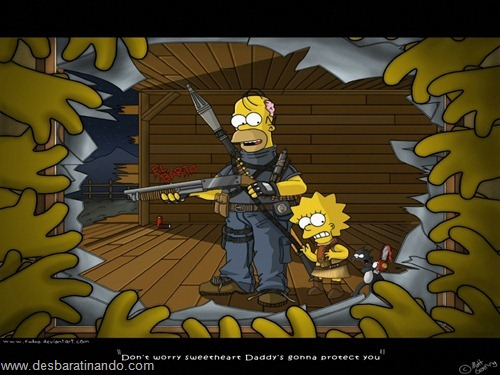 wallpapers os simpsons desbaratinando papel de parede the simpsons  (39)