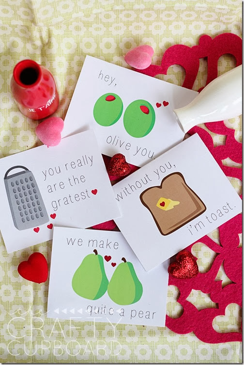 Funny Foodie Valentine cards