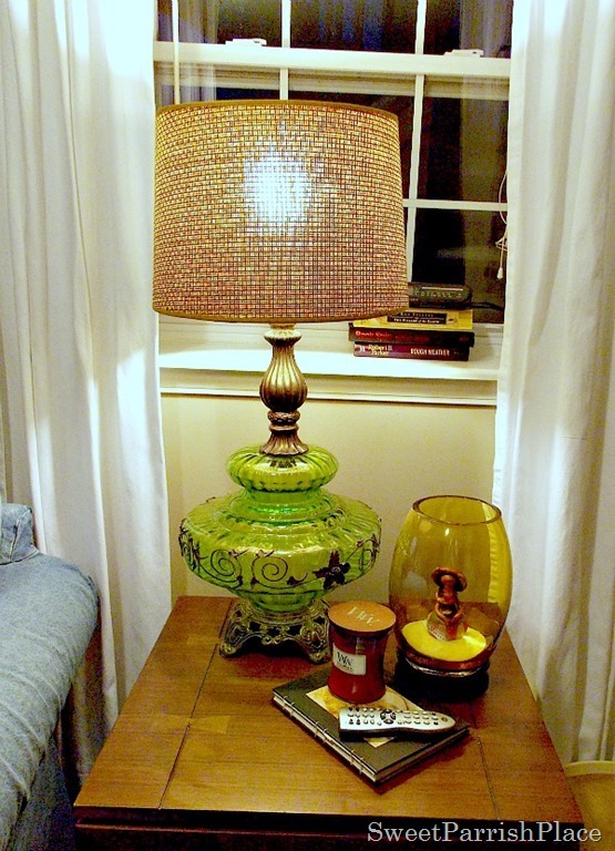 Vintage Green Lamp8
