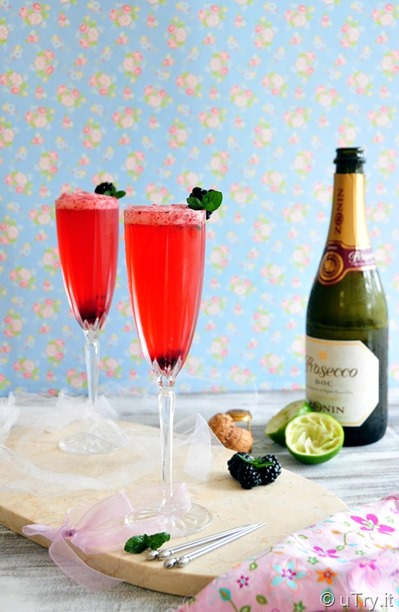 Blackberry Lime Mimosa  http://utry.it  @utry.it