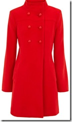 Funnel Neck Red Coat