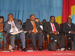 Une vue d'ensemble de quelques membres du gouvernement de la RDC ce 27/04/2011 au palais du peuple siège du parlement, lors de l'interpélation de certains ministres à l'assemblé nationale Radio Okapi Ph. John Bompengo