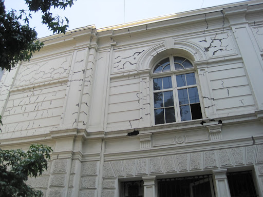 Building damage caused by the Feb, 2010 earthquake.