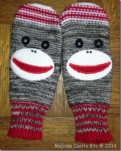1213 Sock Monkey mittens