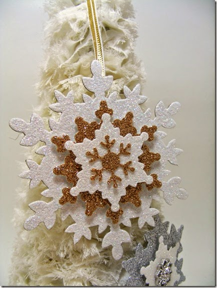 LeAnne Pugliese WeeInklings Paper Players 225 Glimmer Paper Snowflake Ornaments Stampin Up 2