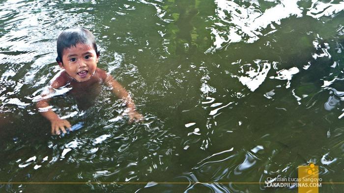 Kids Swimming at Lake Danao