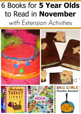 November Books for 5 Year Olds with Extension Reading Activities