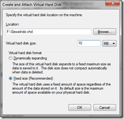 Virtual Hard Disk Tips Windows 7