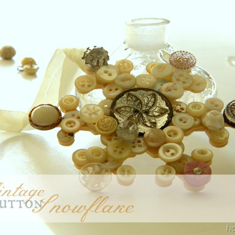Etceteras: vintage button snowflake