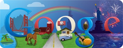 Happy Fourth Of July-Google Doodle