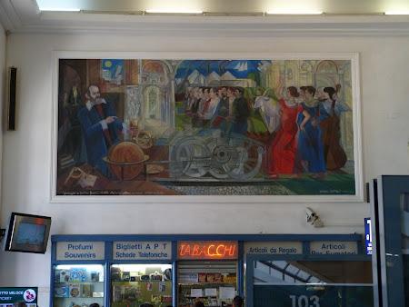 Murale in  Gara Pisa