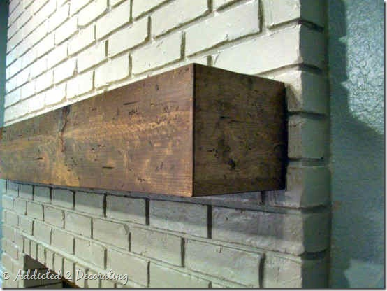 rough hewn wood mantel 6