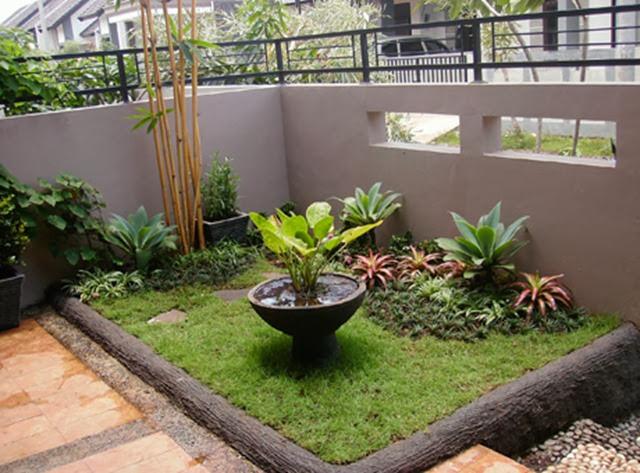 Jasa Tukang Taman Kalimantan taman minimalis depan rumah tipe 36