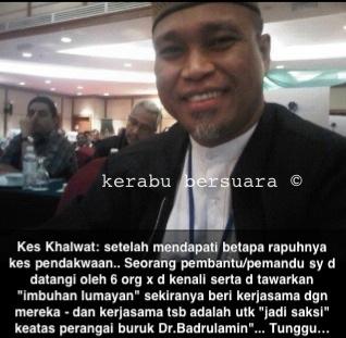Isu Kes Khalwat: Pendedahan Terkini Dan Panas Dr Badrul Amin
