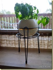 plant stand with hairpin legs