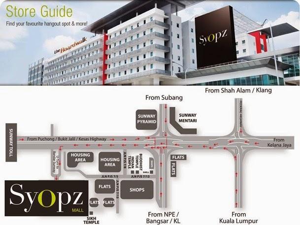 Syopz mall - location map