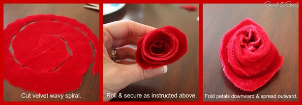 Velvet rose tutorial