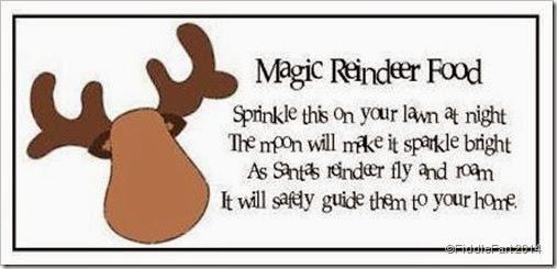 Magic Reindeer Food Tag 2014.