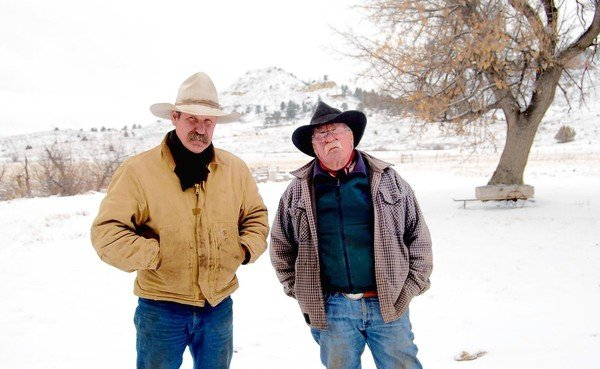 Clint, left, and Wallace McRae run cattle on their 31,000-acre ranch in Montana, land their family has owned for 125 years, 27 April 2013. A proposed rail line to carry coal would run through their ranch, and a coal mine will ruin the water supply. Photo: Kim Murphy / Los Angeles Times