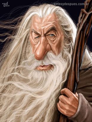 La caricatura de Gandalf