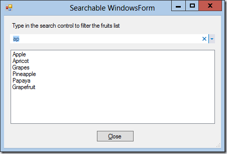 SearchControlWinForms