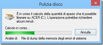 Pulizia disco Windows