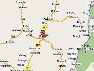 Carte de Beni, Nord-Kivu (RDC)