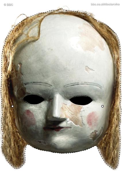 máscara muñeca miedo
