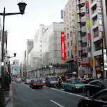ginza shopping street in Tokyo, Tokyo, Japan