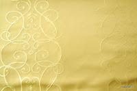 """Luksusowa trudnopalna tkanina z haftem. """"Tafta"""" butikowa. Na zasłony, poduszki, narzuty, dekoracje. Kremowa, złota."""