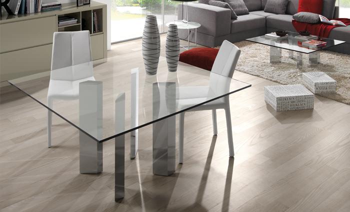 C mo elegir mesa de cristal para tu comedor sin moverte for Mesas de cristal extensibles para comedor