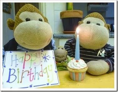 Monkey Birthday card[9]