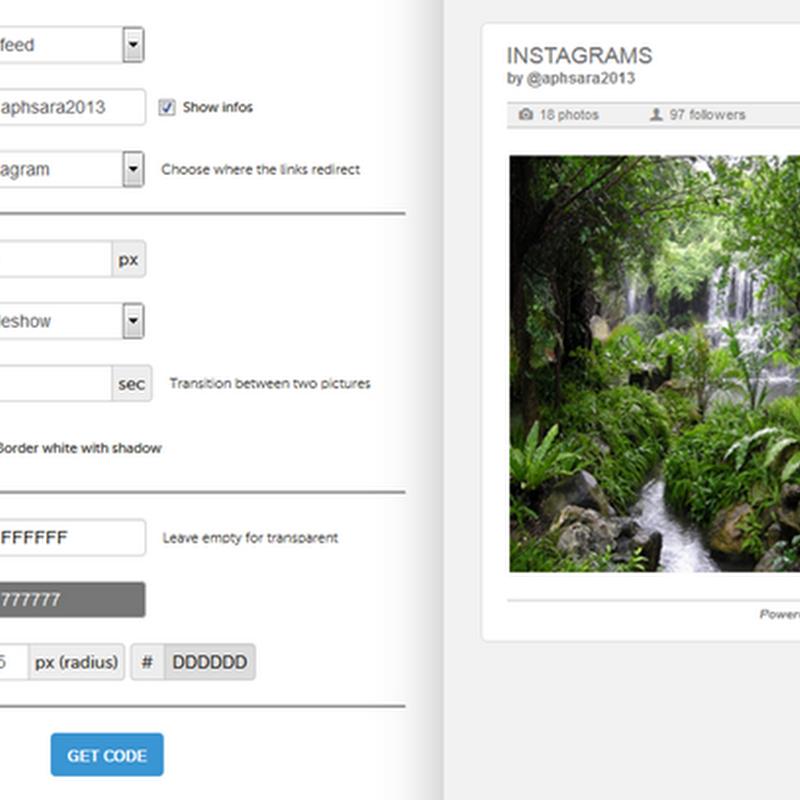 แต่งบล็อก Blogspot ด้วย slide จาก Instagram