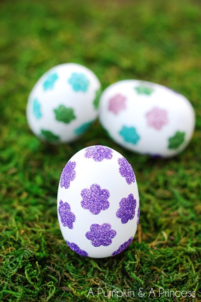 Flower-Glitter-Easter-Eggs