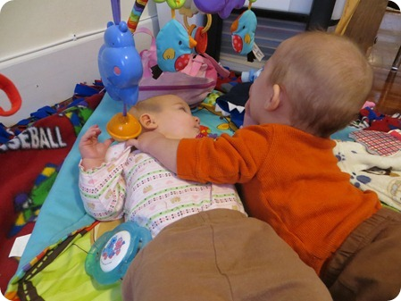 The Twins sharing germs