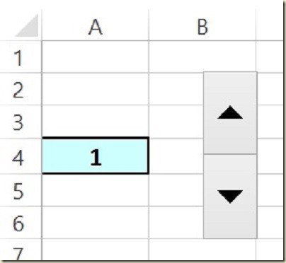 Form Controls in Excel - Initial Spin Button