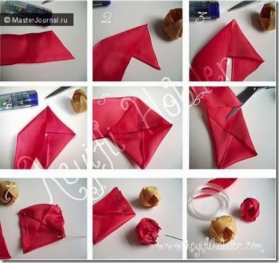 Fabric flowers tutorial 6