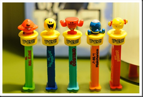 French Mr. Men PEZ Dispensers