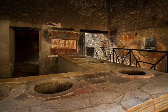Antigua ciudad romana de Pompeia.Caupona o termopolium de Vetutius Placidus.Pompeia, Itàlia