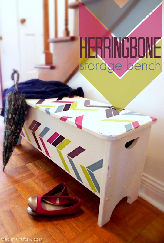 Herringbone Storage Bench